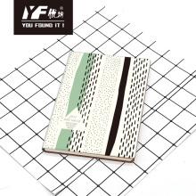 Benutzerdefiniertes PU-Cover-Notebook im Streifenstil