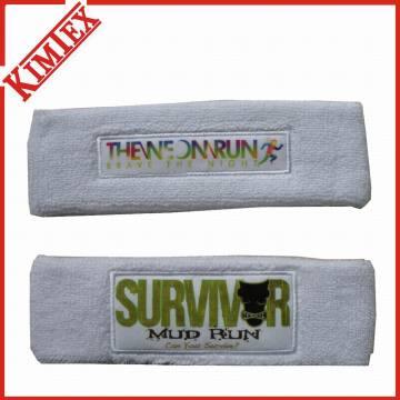 Sport-Baumwoll-Terry-Förderung-Schweißband und Stirnband