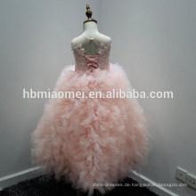 Sleeveless rosa Farbe Kinder Mädchen Kleid für Geburtstagsfeier