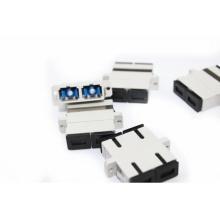 SC UPC MM adaptador óptico / SX conector padrão adaptador quadrado de fibra óptica