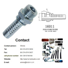 Carbon Steel SAE MALE HOSE FITTING hydraulic fittings /SAE O-RING MALE /carbon steel hydraulic hose fittings 16011