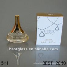 O frasco de vidro bonito de 5ml com perfume, frasco de perfume com pulverizador, pode fornecê-lo o perfume