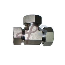 Instalación de manguera hidráulica de tubo de material de acero inoxidable