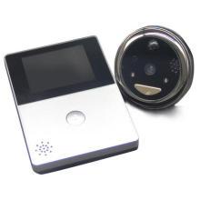 anneau avant de la maison wi-fi activé peephole sonnette intelligente avec écran lcd pir détection de mouvement