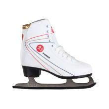 Colorful vamp gold upper impact-resistant white lamb fur lining ice skates shoes