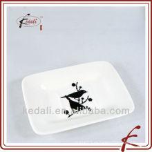 China Fábrica de porcelana de cerámica de jabón titular del jabón del plato