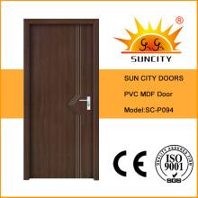 Врезная конструкция с покрытием ПВХ двери МДФ комната (СК-P094)