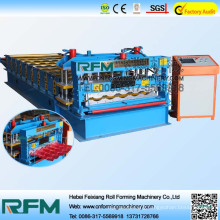 Glazed tile forming machine, glazed tile roof panel cold forming machine