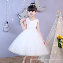 Ivory Lace Short Sleeve Flower Girl Dress Supplier