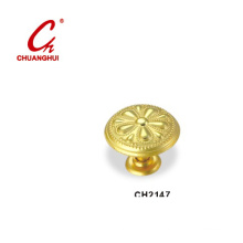 Gold Knob Handles with Decorative Pattern (CH2147)
