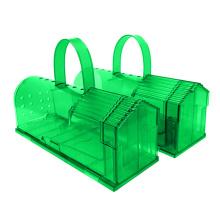wholesale reusable no kill transparent rat traps with handle live mouse cage plastic mouse trap humane