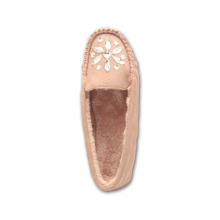 Holiday sales for Womens Fur Moccasins pink warm moccasin slippers for womens export to Dominican Republic Manufacturer