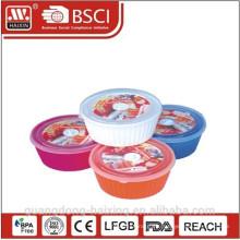Containers(1.65) microondas redondo plástico productos