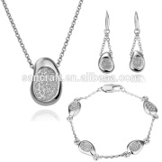 TOP SALE CHINA WHOLESALE CHARM 925 SILVER JEWELRY SET, ATTRACTIVE FINE BODY JEWELRY FOR FASHION WOMEN