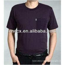 13ST1010 O neck pocket fashion business t shirts for men