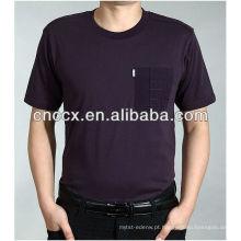 13ST1010 O pescoço bolso fashion business t shirts para homens