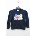 100% cotton knitted front print GIRL`S JACKET pullover