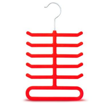 Red  Velvet Flocked Tie Hanger