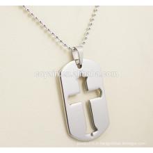 Colliers pendants en acier inoxydable