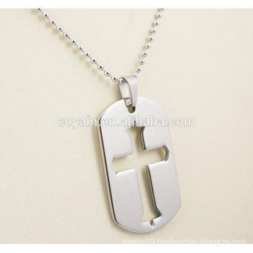 Stainless steel pendant necklaces mens cross dog tag necklaces
