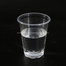 Taza de té transparente de plástico