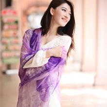 Digital Printed Silk Chiffon Scarf (12-BR050320-5.2)