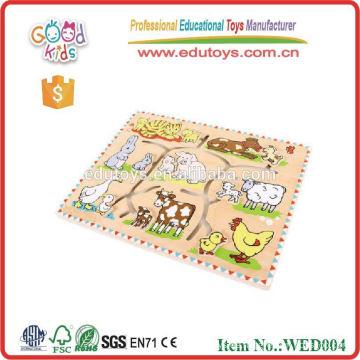 2015 gute Holz Tier Puzzle pädagogischen Spielzeug für Kleinkinder