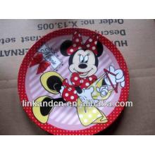 Haonai 2014 ventas calientes Minnie cerámica placa de obras de arte
