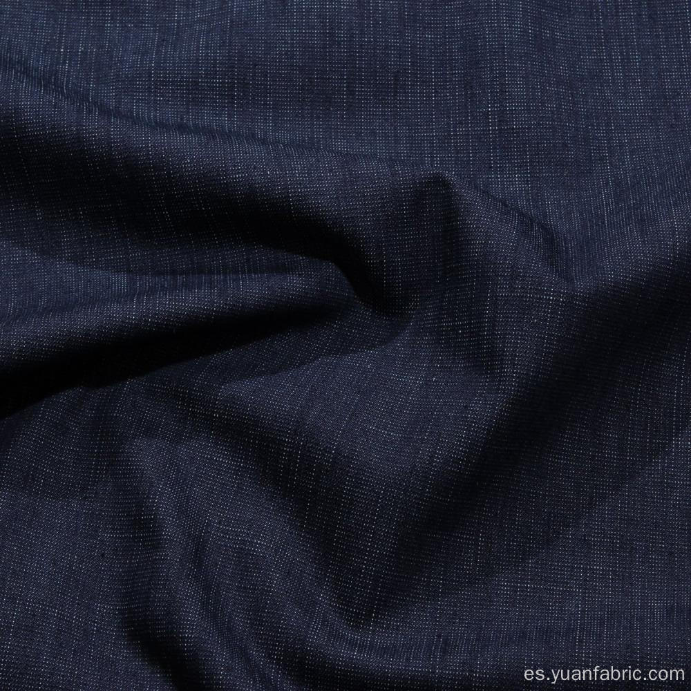 Denim Dark Blue Stretch Fabric al por mayor