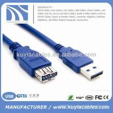 Nuevo varón del USB 3.0 de la velocidad estupenda del 1.5M 1.5M al cable de extensión femenino, 1.5m