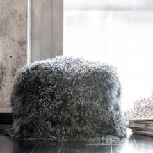 Hogar Real Rabbit Fur Pillow Case Funda de cojín