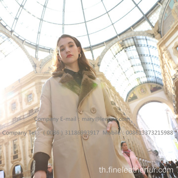 Mink Reversible Mink Women Coat ฤดูหนาว