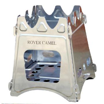 Rover Camel pique-nique poêle carrée Style Portable pliable Camping réchaud