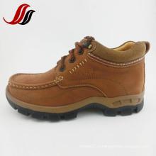 Высокое качество мужчин MID-Cut причинной кожи кожаные сапоги кожа (MF715)