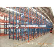 Venda quente dupla..--sistemas de rack de armazenamento estantes/duplo paletes de armazenamento