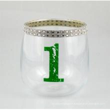 Bougeoir avec diamants colorés et numéro