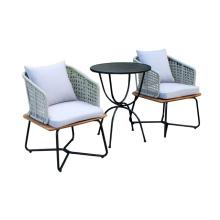 Nouveau design table basse patio et chaises