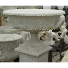 Stone Marble Flowerpot for Garden Ornament (QFP332)