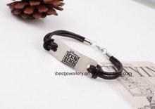 Costume Jewelry-Fashion Leather Bracelet