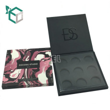 recycled cardboard foil stamping paper eyeshadow palette packaging box with mirror