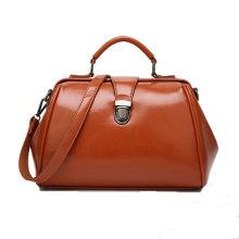 Quality Blank PU Leather Lady Tote Hand Bag