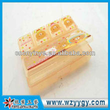 OEM rechteckigen Kunststoff Pillenbox für Geschäftsreise