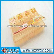 OEM rectangular plástico pastillero para viaje de negocios