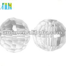 Хрустальные бусины граненые круглые 10 мм Диско шары Кристалл AB