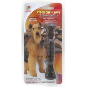 "Percell 6 ""Nylon Dog Chew Spiral Bone Chocolate Scent"