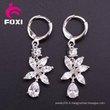 Gemstone Hoop Boucles d'oreilles Cubic Zirconia Jewelry