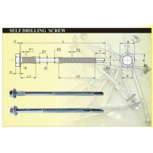 Hex Washer Head Long Point Drilling Screw