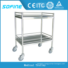 SF-HJ2711 hospital ues stainless steel multifunctional nurse trolley