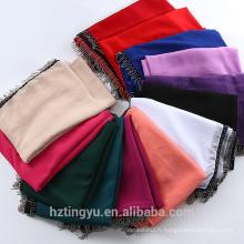 Usine hangzhou nouveau châle maxi musulman pierre écharpe mousseline de soie bulle hijab écharpe