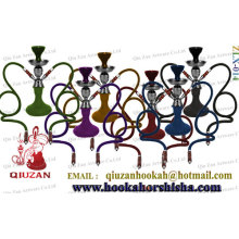 Stainless Steel Colorful Medium Hookah With 2 Hoses